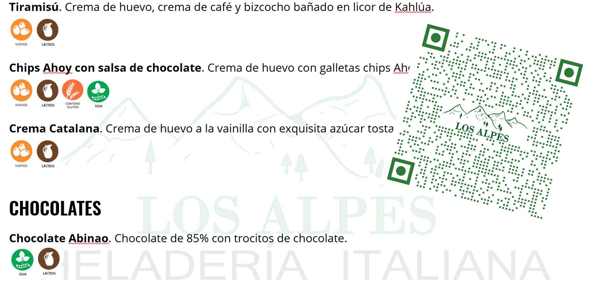 Carta Digital con QR
